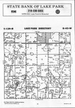 Map Image 070, Becker County 1992 Published by Farm and Home Publishers, LTD